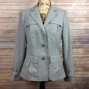Calvin Klein Size 6 Gray Three Button Blazer